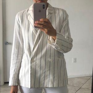 Gap Linen Thin Stripes Jacket Blazer size Small